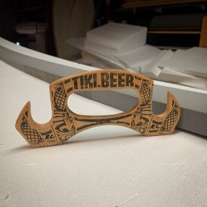 Ricky Carroll Tiki Beer Growler Carrier 003 made from Old Skateboards
