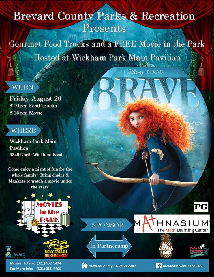 Movies in the Park, Brave, Ricky Carroll Surfboards