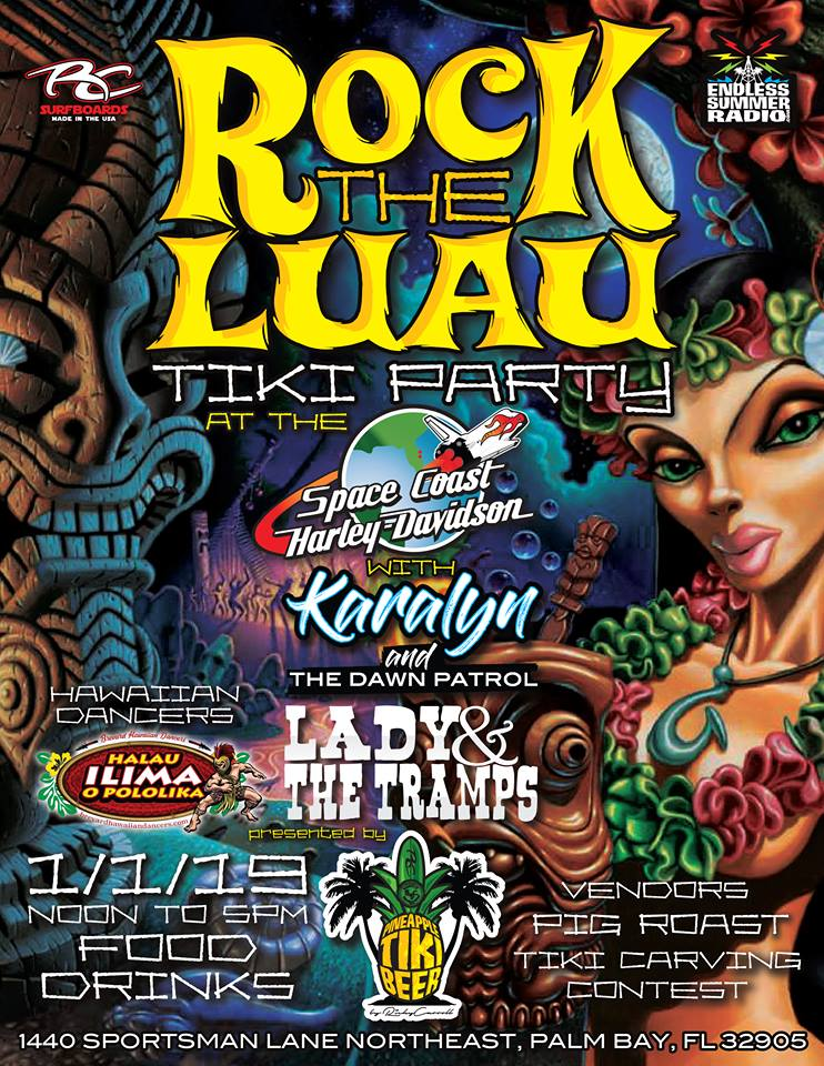 Rock The Luau Tiki Party at the Space Coast Harley-Davidson Ricky Carroll's Pineapple Tiki Beer