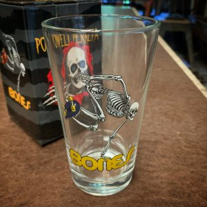 Powell Peralta Skateboarding Skeleton Pint Glass