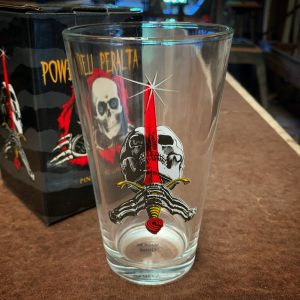 Powell Peralta Skateboarding Skull & Sword Pint Glass