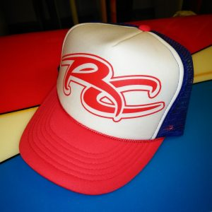 Ricky Carroll Surfboards Red, White & Blue Snapback Trucker Hat