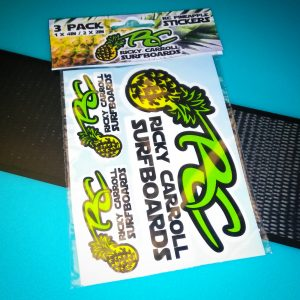 Ricky Carroll Surfboards Pineapple Die Cut Stickers - 3 Pack