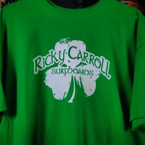 Glow in the Dark > Ricky Carroll Surfboard Shamrock T-Shirt / Small