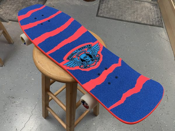 Powell Peralta Per Welinder Complete 80s Old School Skateboard with Ace Trucks 55s and Slime Ball Wheels + Bonus Lapel Pin