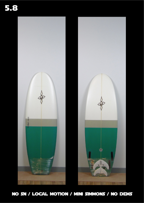 local motion mini simmons surfboard