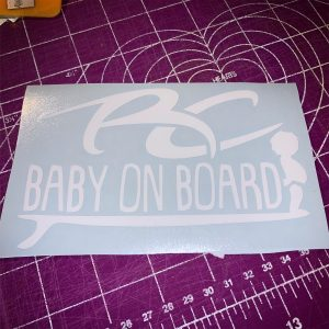 RC Baby on Board Boy Sticker