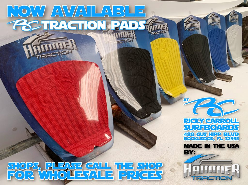 NOW AVAILABLE > The NEW Ricky Carroll Surfboards TRACTION PADS ARE HERE