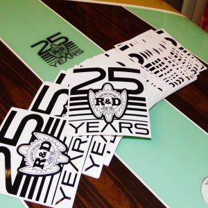 "Limited Edition R&D Surf 25 Years 4"" Sticker"