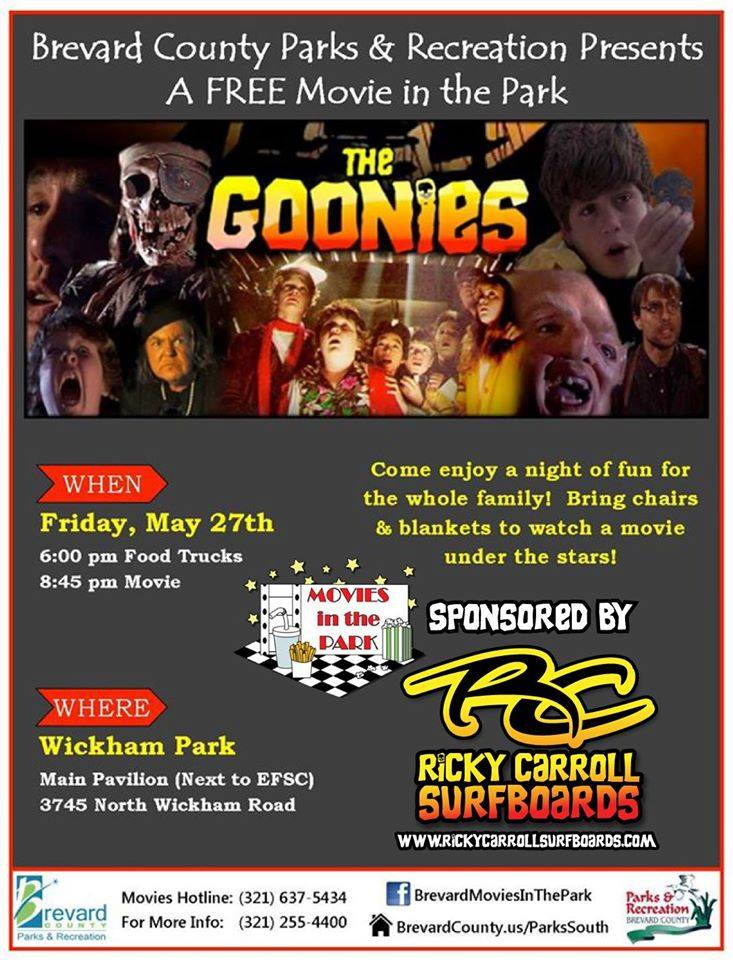 Ricky Carroll Surfboards The Goonies Movies in the Park