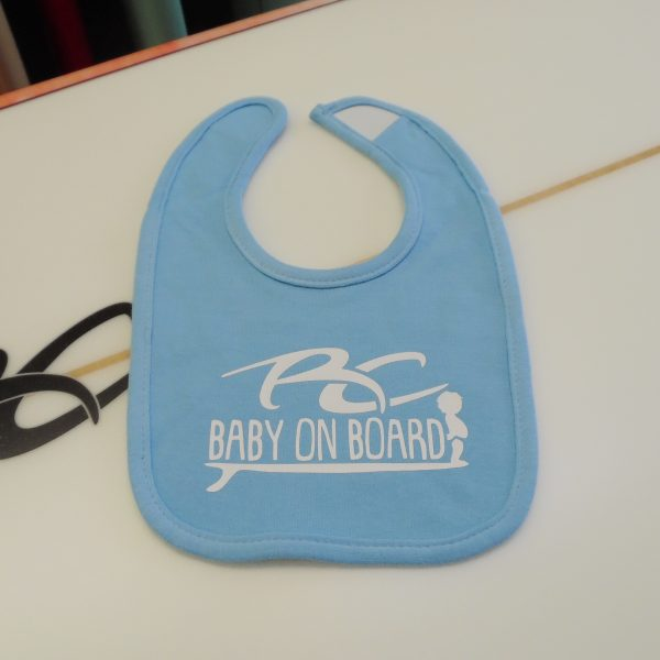 RC Baby on Board Boys Light Blue Bib