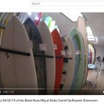 Check out the Visual Inventory 04/02/19 of the Black Rose Mfg at Ricky Carroll Surfboards Showroom
