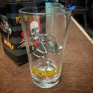 Powell Peralta Skateboarding Skeleton Pint Glass