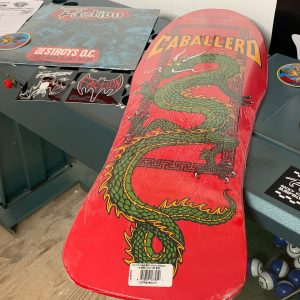 "Steve Caballero Chinese Dragon Deck x2 + 12"" Powell Peralta + Faction - Destroys O.C. LP"