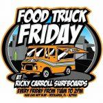 Calendar for November Wiener Wednesday, Food Truck Thursday & Food Truck Friday at Ricky Carroll Surfboards