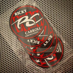 Ricky Carroll Surfboards Surf Flag Stickers