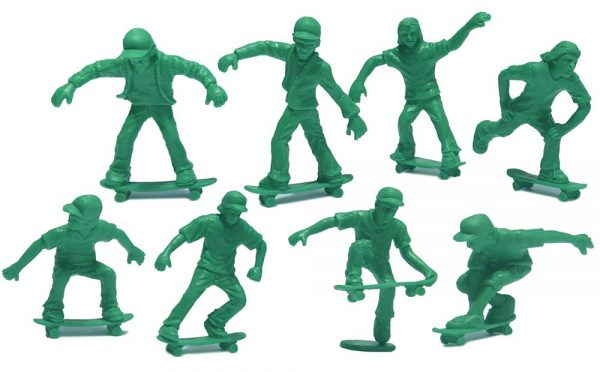 Toy Boarders Pro Skate / Green / 16 Pack / Pro Skate Series 1