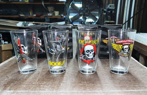 Powell Peralta Skateboarding Pint Glass set of 4