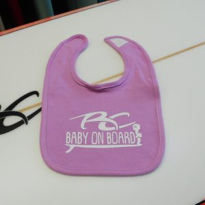 RC Baby on Board Girls Light Pastel Mauve Purple Bib