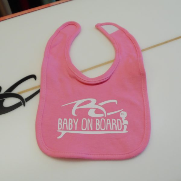 RC Baby on Board Girls Pink Bib