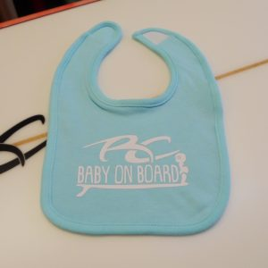 RC Baby on Board Girls Light Teal Bib