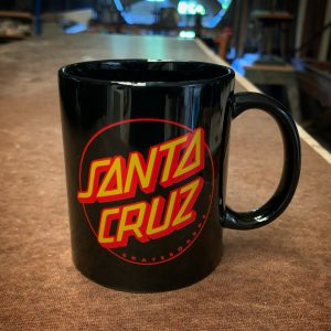 Santa Cruz Skateboards Classic Dot Black Coffee Mug
