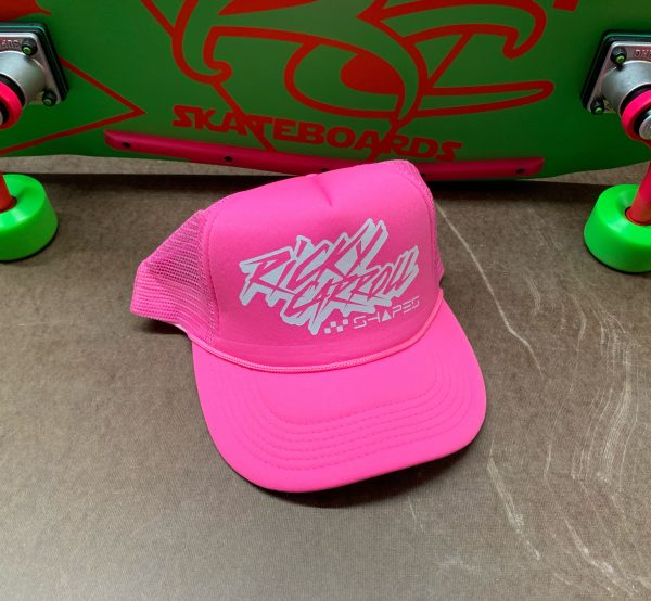 Totally Rad Ricky Carroll Shapes / Surfboards 80s Trucker Hat / Pink